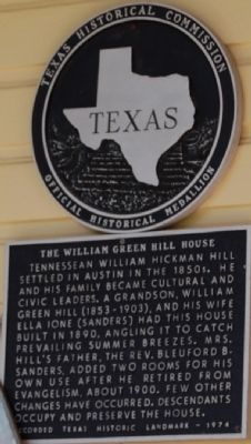 The William Green Hill House Marker image. Click for full size.