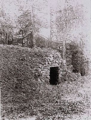 Sketch of Furley Hall Ice House image. Click for full size.