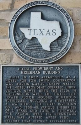 Hotel Provident and Heierman Building Marker image. Click for full size.