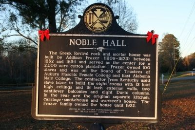 Noble Hall Marker image. Click for full size.