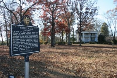 Noble Hall & Marker image. Click for full size.