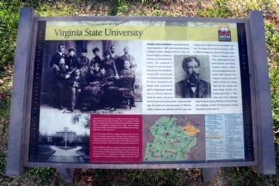 Virginia State University CRIEHT Marker image. Click for full size.