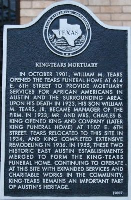 King-Tears Mortuary Marker image. Click for full size.