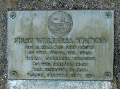 First Wireless Station Marker image. Click for full size.