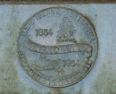 First Wireless Station Marker - Closeup of Centennial Seal image. Click for full size.