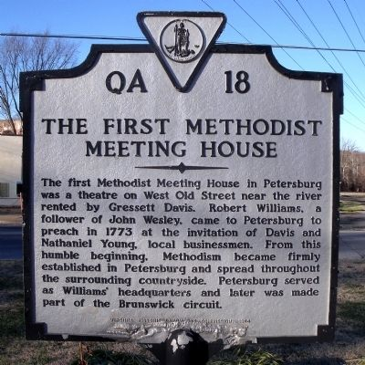The First Methodist Meeting House Marker image. Click for full size.