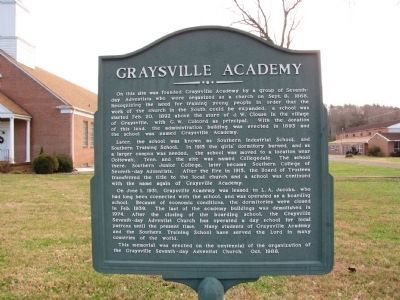 Graysville Academy Marker image. Click for full size.