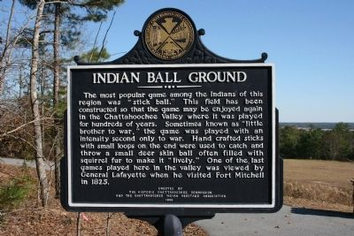 Indian Ball Ground Marker image. Click for full size.