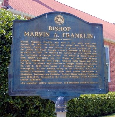 Bishop Marvin A. Franklin Marker image. Click for full size.