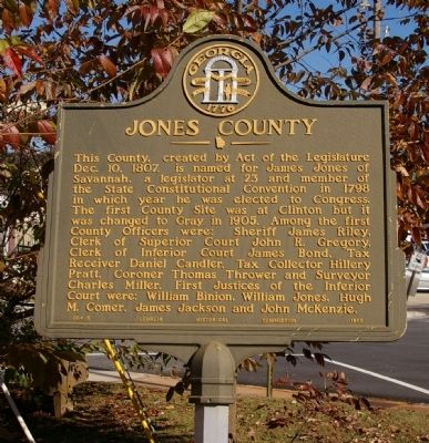 Jones County Marker image. Click for full size.