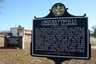 Crockettsville Marker image. Click for full size.