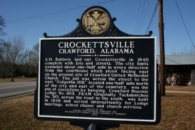 Crockettsville Marker Reverse image, Touch for more information