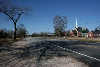 U. S. Highway 80 Passing Through Crawford, Alabama image. Click for full size.