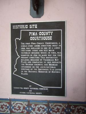 Pima County Courthouse Marker image. Click for full size.