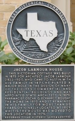 Jacob Larmour House Marker image. Click for full size.