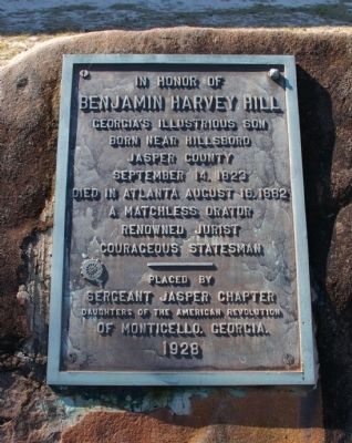 Benjamin Harvey Hill Marker image. Click for full size.