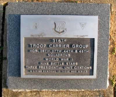 316th Troop Carrier Group Marker image. Click for full size.