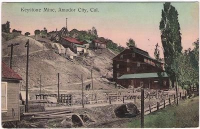 Keystone Mine - Early Postcard View from the Northwest image. Click for full size.