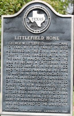 Littlefield Home Marker image. Click for full size.