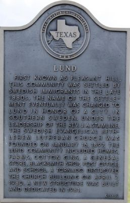 Lund Marker image. Click for full size.