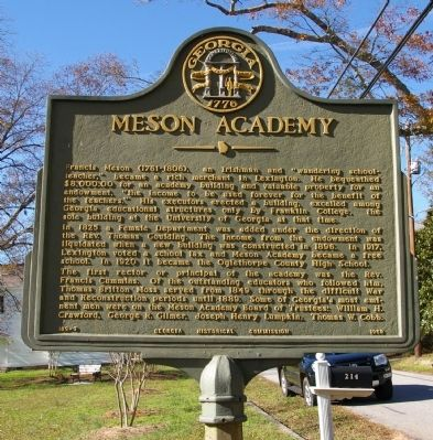 Meson Academy Marker image. Click for full size.