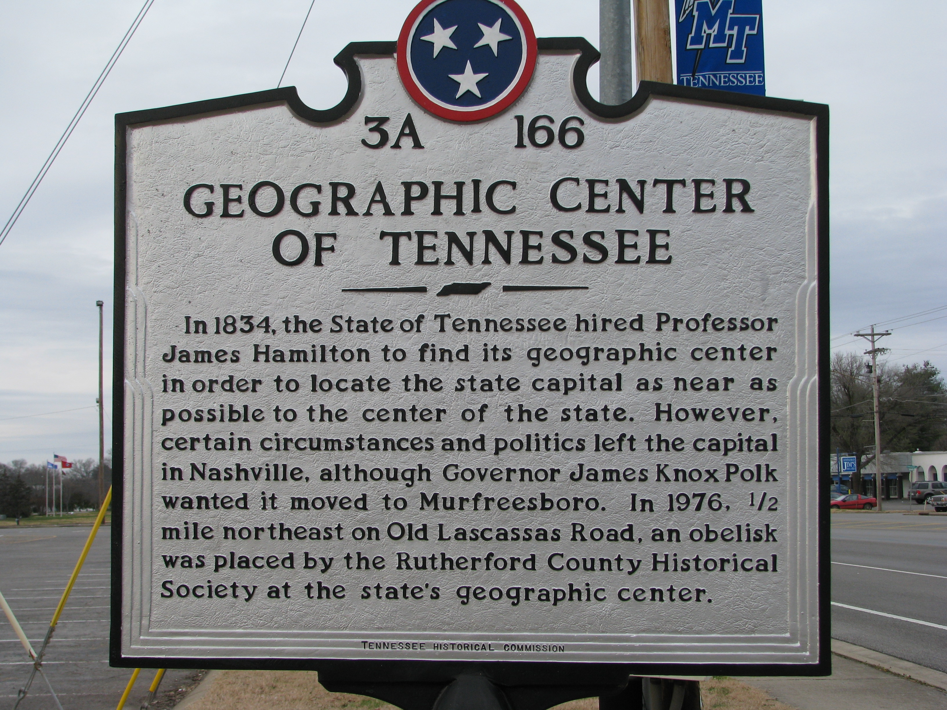 Geographic Center of Tennessee Marker