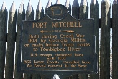 Fort Mitchell Marker image. Click for full size.