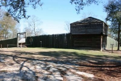 Replica of Fort Mitchell on the site of the orginal fort. image. Click for full size.