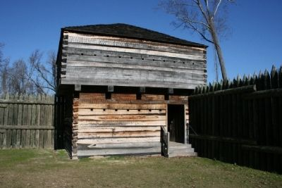 One of two blockhouses at Fort Mitchell image. Click for full size.
