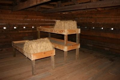 Sleeping Quarters inside the blockhouse image. Click for full size.
