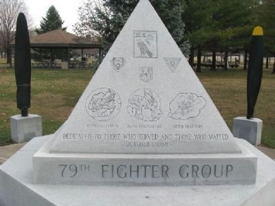 79th Fighter Group Memorial West Face (front) image. Click for full size.