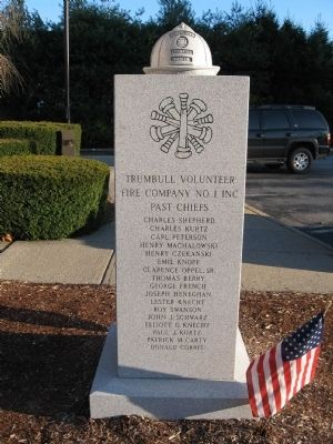 Trumbull Volunteer Fire Company #1 Marker image. Click for full size.