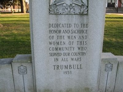 Trumbull Veterans Memorial image. Click for full size.