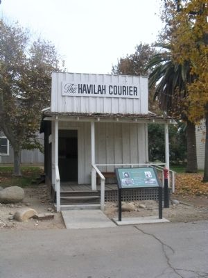 Havilah Courier Building and Marker image. Click for full size.