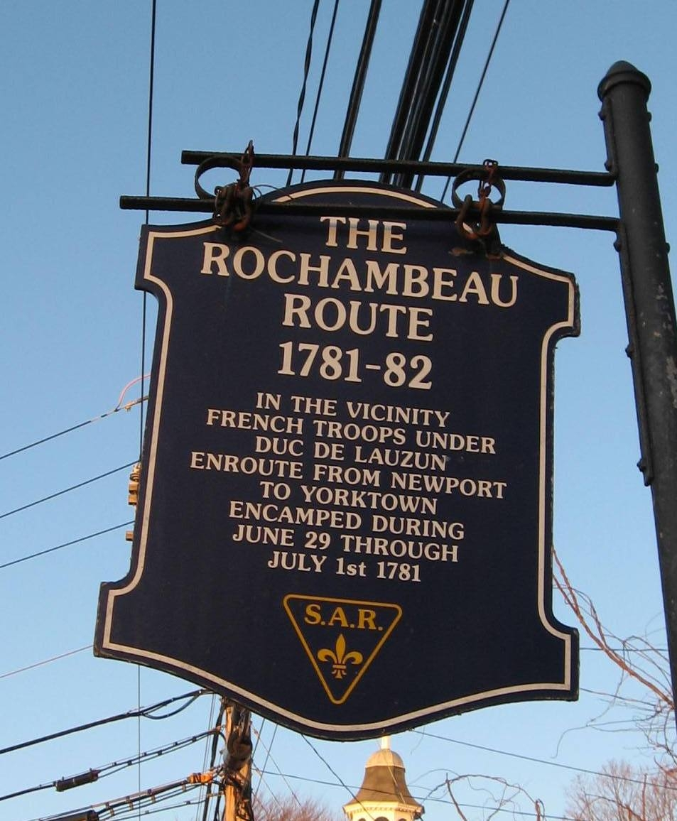 The Rochambeau Route 1781 – 82 Marker