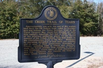 The Creek Trail Of Tears Marker image. Click for full size.