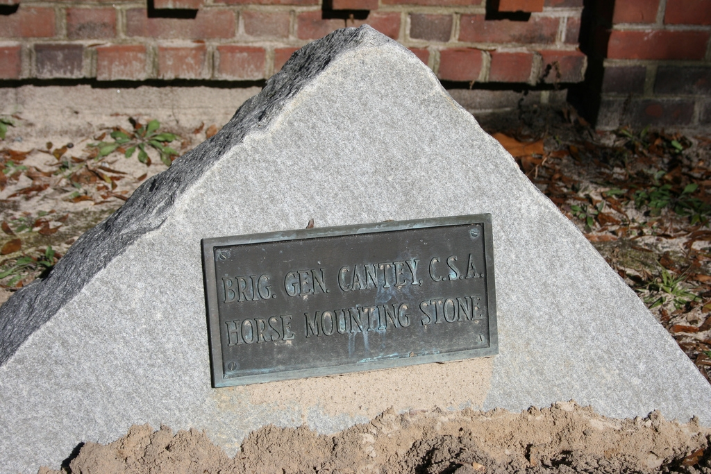 Brig. Gen. Cantey, C.S.A. Horse Mounting Stone