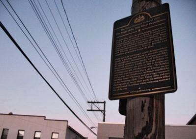 Seige at the 26th Street Roundhouse Marker image. Click for full size.