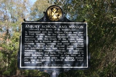 Asbury School And Mission Marker image. Click for full size.