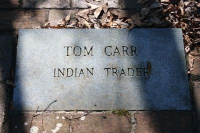 Tom Carr Indian Trader Gravestone Marker image. Click for full size.