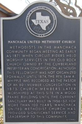 Manchaca United Methodist Church Marker image. Click for full size.