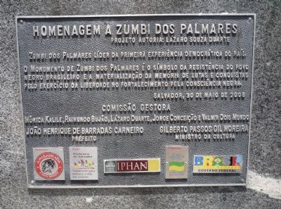 Zumbi Dos Palmares Monument Marker - Panel 4 image. Click for full size.