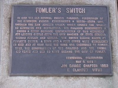 Fowler's Switch Marker image. Click for full size.