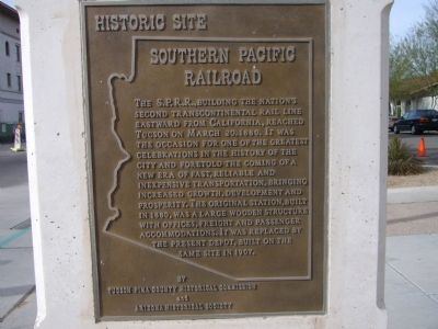 Southern Pacific Railroad Marker image. Click for full size.