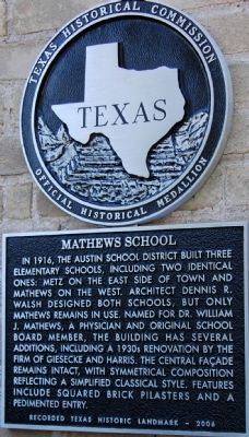 Mathews School Marker image. Click for full size.