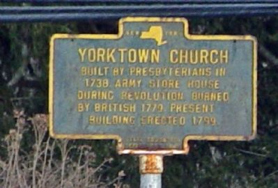 Yorktown Church Marker image. Click for full size.