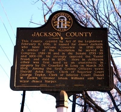Jackson County Marker image. Click for full size.
