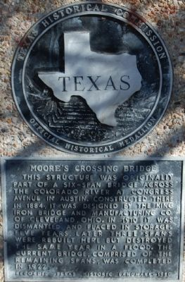 Moore's Crossing Bridge Marker image. Click for full size.