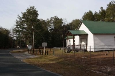 Oak Grove Baptist Church and Marker looking east along Rivers Hill Road image. Click for full size.