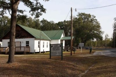 Oak Grove Baptist Church , looking east along Rivers Hill Road (State Road 27-17) image. Click for full size.